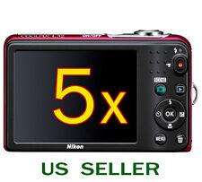 5x Nikon COOLPIX L32 L30 Digital Camera Clear LCD Screen Protector Guard Shield