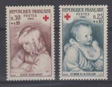 FRANCE 1965 Red Cross Fund - Two Mint (MNH) values   - (258)