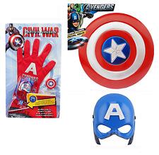 Avengers Captain America Kapitän Amerika Maske leuchten + Schutzschild + Handsch
