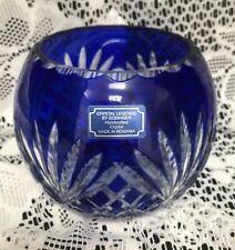 Vtg Crystal Legends By Godinger Handcrafted Crystal Made In Romania -Cobalt Blue