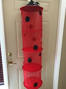 LADYBUG KIDS CHILDRENS GIRLS HANGING 4 TIER ORGANIZER ROOM HOME DECOR BEDROOM