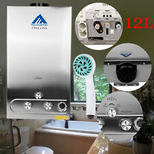 12L 3.2Gpm Propane Lpg Gas Tankless Water Heater Instant Hot Water Boiler Shower