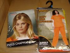 PIPER ORANGE IS THE NEW BLACK Halloween Costume & Wig Women NEW SZ 16-18 JAIL