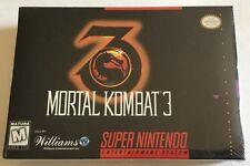 Mortal Kombat 3 (Super Nintendo, 1995) Snes BRAND NEW FACTORY SEALED