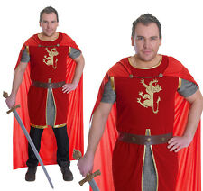 Mens Lion Heart Fancy Dress Costume Medieval Warrior Knight Outfit New