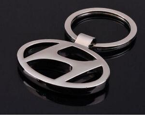 Hyundai Key Ring NEW - Silver Metal - Car Keyring