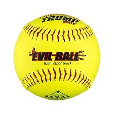"Half Dozen Asa Evil Ball 12"" Softballs 52 Cor 300 Compression 6 Balls Leather"
