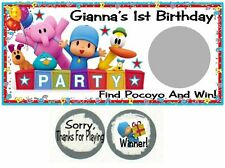10 Pocoyo Birthday Party Scratch Off Game Cards Favors Tickets Elly Pato Loula