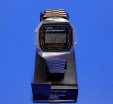New CASIO Watch A168WA-1 Water Resist Mens Stopwatch From Japan F/S