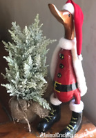 Large 34cm wooden wood Duck in Santa outfit Duck lover Christmas decoration