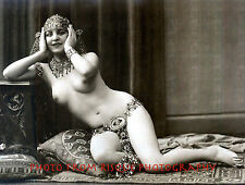 """Nude Woman Wearing Vintage Costume Jewelry 8.5x11"""" Photo Print, Naked Female"""