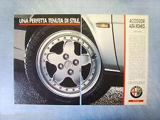 QUATTROR992-PUBBLICITA'/ADVERTISING-1992- ALFA ROMEO - CERCHI IN LEGA -2 fogli