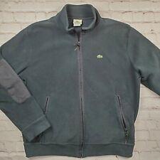 Lacoste Men's Sport Fleece Zip Up Hoodie Hooded Black Large 5