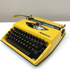 1970 Rare Yellow Adler Tippa S Portable Typewriter Original Case box Netherlands