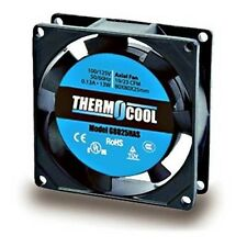 ThermoCool Low Noise 12W, 80mm square, 110V AC Fan - Lot of 3 ( 28F032 )