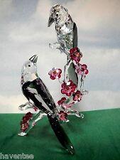 Swarovski Loving Magpies Crystal Tutelary Spirit Birds figurine  5004639