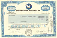 WHEELED COACH > Florida auto stock certificate share
