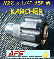 M22 x1/4M KARCHER ADAPTOR PRESSURE WASHER JET WASH HOSE