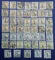 1930-1935 CHINA STAMP LOT PEKING JUNK SHIP RED & BLACK SURCHARGE 45+ STAMPS