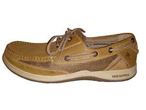 Margaritaville Men's Boat Shoes MFM171119 2 Eye Lace Up Light Beige Size 13