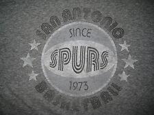 Vintage Style SAN ANTONIO SPURS Logo Sportide Apparel Gray Shirt USED MEDIUM M