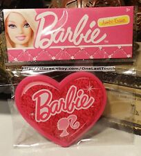 BARBIE Pink Heart Shaped w/Logo JUMBO ERASER Cool for School MATTEL New!