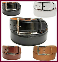 Men's Leather Casual / Dress Belt Classic Double-Stitched Edge