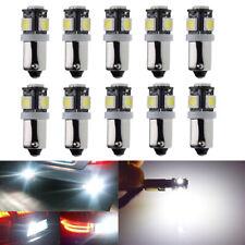 10Pcs BAX9S H6W Car Motor Interior Dome Side Wedge Parker Light Bulbs 6V White