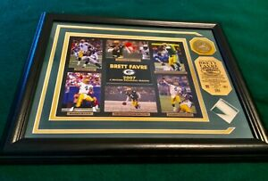 2007 BRETT FAVRE-Framed & Matted Record Held & Game Use Jersey Piece Collage!NEW