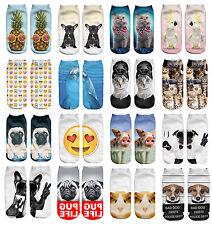 Girls Boys Low Ankle Athletic Funny Socks Emoji Novelty Happy Socks Kids 3-7