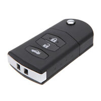 3 Button Flip Car Remote Key Case Shell For MAZDA 2 3 5 6 RX8 MX5 Key Fob Cover