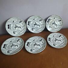RIDGEWAY HOMEMAKER 7 INCH SIDE PLATES X 6.RETRO 50'S 60'S. MID CENTURY MODERN.