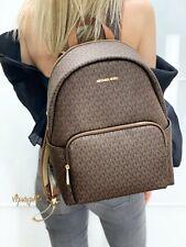 Michael Kors Erin Large Backpack PVC MK Logo Signature Brown