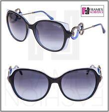 15751190583e ROBERTO CAVALLI CASTELFIORENTINO Square 1035 Blue Translucent Snake  Sunglasses