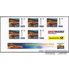 """BRIEFMARKE INDIVIDUELL 5er-Block """"Heidelberger Herbst 2016"""", Claude Martine, NEU"""