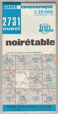Carte Topographique IGN Noirétable 2731 Ouest