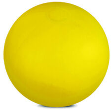 """YELLOW INFLATABLE TRANSLUCENT 10"""" BEACH BALL SWIMMING POOL PARTY KIDS TOY SWIM"""