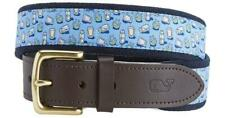 Vineyard Vines Tequila & Lime Bimini Blue Men's Belt 30