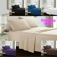 Egyptian Comfort 1800 Count 4Pcs Bed Sheet Set Deep Pocket Queen Size Sheets R1