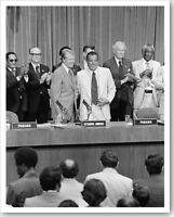 Jimmy Carter & General Omar Torrijo Panama Canal Treaty 8x10 Silver Halide Photo