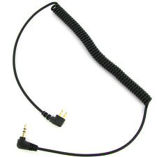2' Coiled Audio Input Cable Equivalent to Peltor FL6N, 3.5mm Gold Stereo Plug