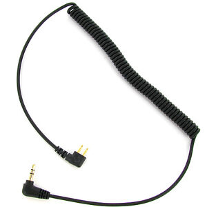 2' Coiled Audio Input Cable Compatible with Peltor FL6N, 3.5mm Gold Stereo Plug