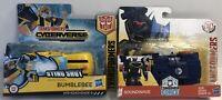 Lot of 2 Transformers Cyberverse Bumblebee Sting Shot & Soundwave Robots - NIP