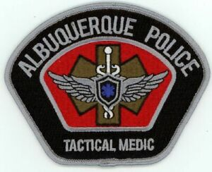NEW MEXICO NM ALBUQUERQUE POLICE TACTICAL MEDIC NEW PATCH SHERIFF STYLE 1 OF 2