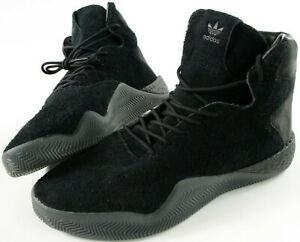 ADIDAS ORIGINALS Tubular Instinct BOOST all black Hairy Suede shoes- 12.5- NEW-