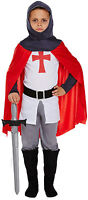 Childs Boys Knight Fancy Dress Childs Dressing Up Costume Ages 4-12 Years New