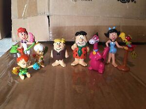 Vintage pvc figures figurine The Flintstones Set