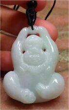 Jadeite Pendant Monkey �猴 291560 Certified Green 100% Natural A Jade