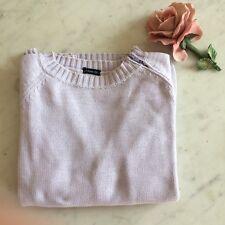Maglioncino BRANDY 100% cotone. Lilla con zip sulla spalla. Taglia Size S Pull S