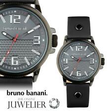 Bruno Banani Herren Uhr Armbanduhr aus Leder BR30026